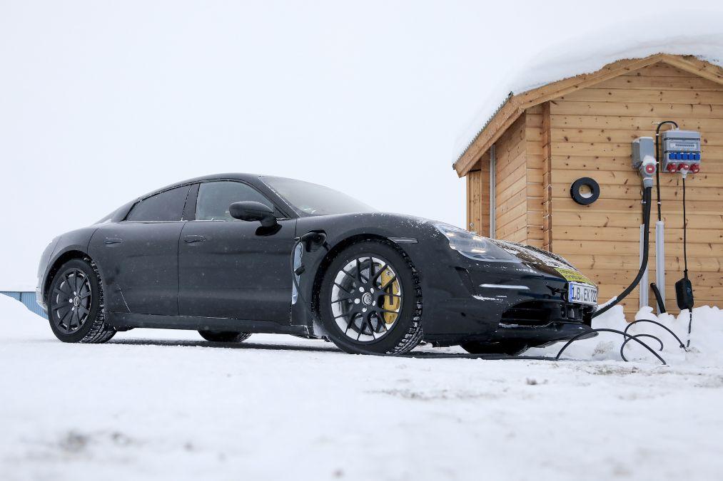 Porsche Taycan Winter Testing