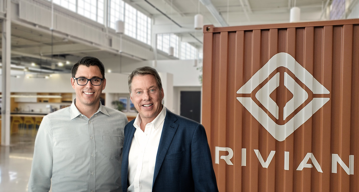 RJ Scaringe, Rivian founder and CEO, and Ford Executive Chairman Bill Ford