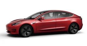 2018 Tesla Model 3 Red Multi Coat