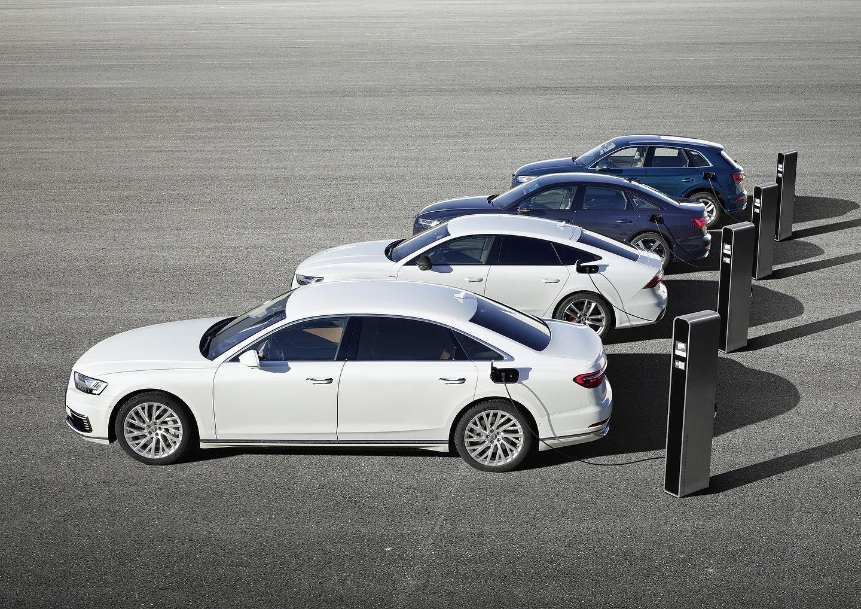 Audi Q5, A6, A7 et A8 PHEV