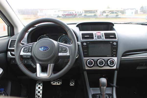 Essai Subaru Crosstrek - habitacle