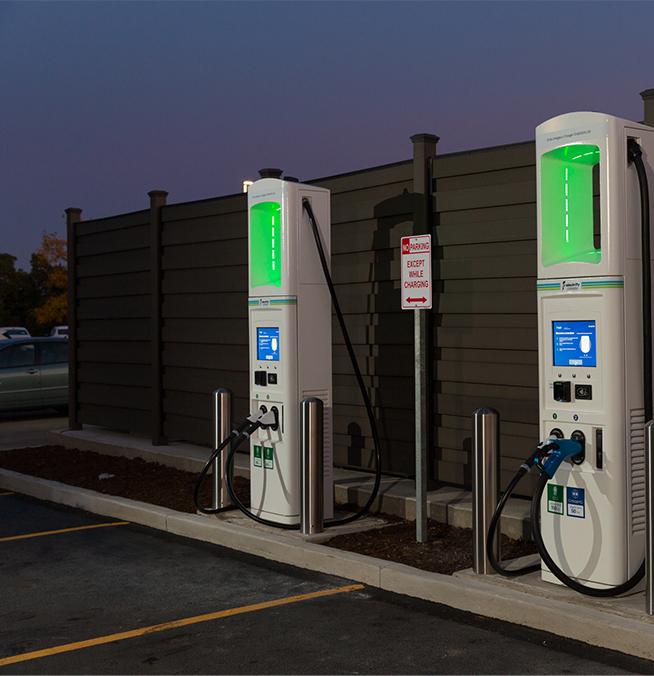 Bornes de recharge Electrify Canada