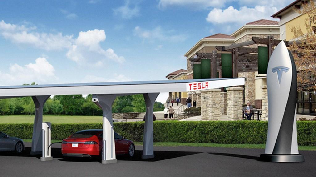 Tesla partage chargeur